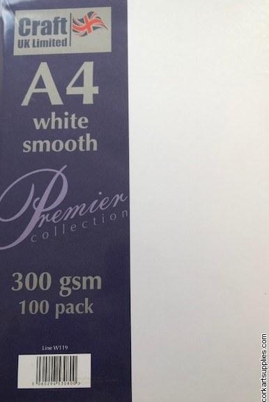 Card A4 300gm 100pk Smooth White