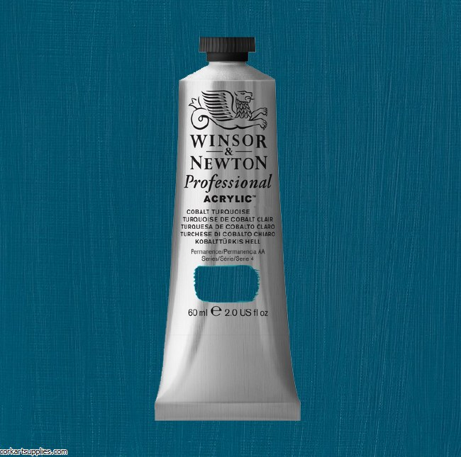 Cobalt Turquoise 60ml Artists' Acrylic Winsor & Newton
