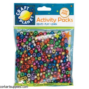 Beads Pony Asst Met 80g Bag
