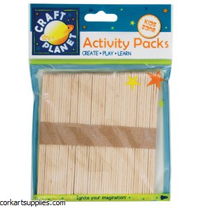 Lolly Sticks 50pk Natural 114x10x2mm