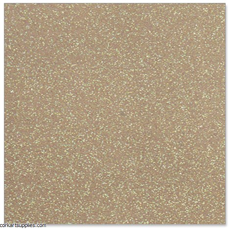 A4 Card Glitter Gold Single