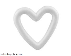 Polystyrene Heart Ring 200mm