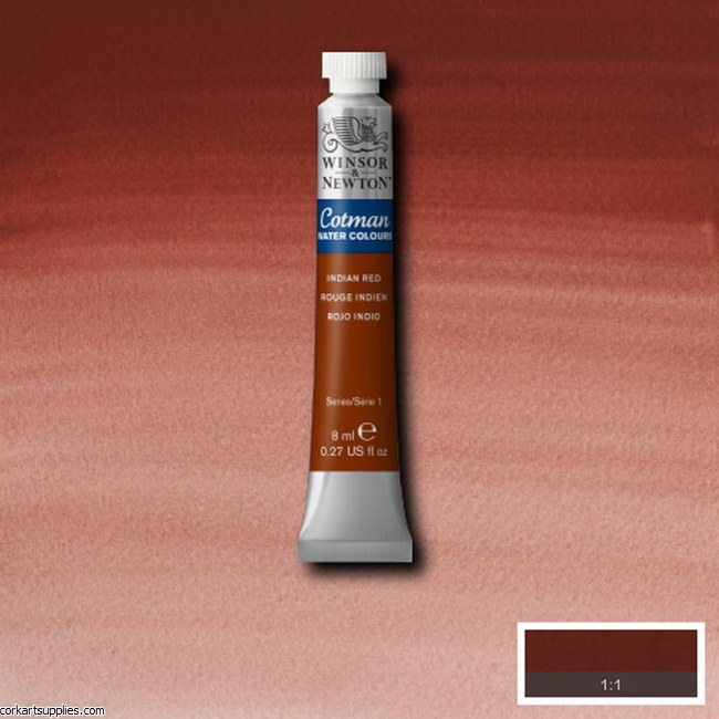 Cotman Watercolour 8ml Indian Red