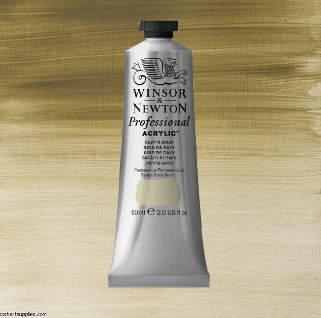 Davys Grey 60ml Artists' Acrylic Winsor & Newton