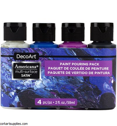 Decoart Multi Surface Galaxy Pouring Kit 4pk