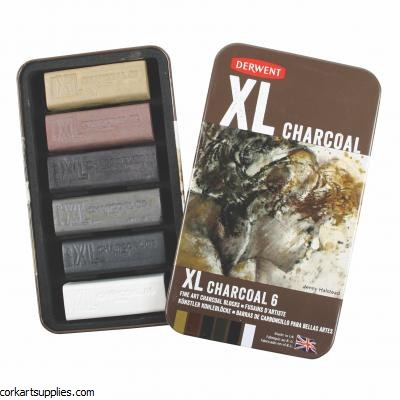 Derwent Tin XL Charcoal 6pk