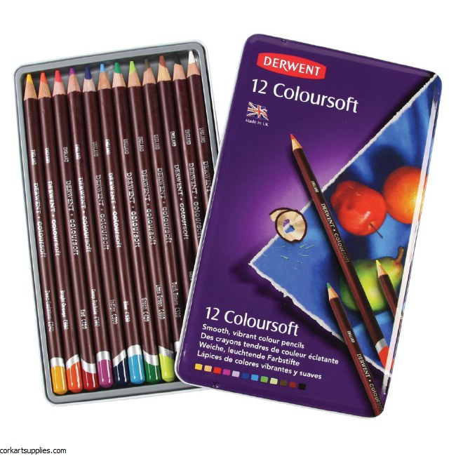 Derwent Coloursoft Tin 12pk