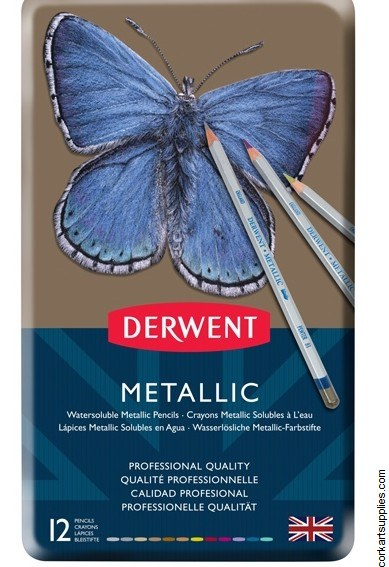 Derwent Metallic Pencils 12pk