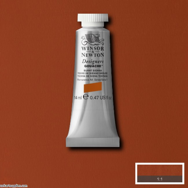 Designer Gouache 14ml Burnt Sienna