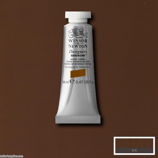 Designer Gouache 14ml Burnt Umber