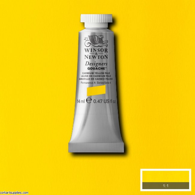 Designer Gouache 14ml Cadmium Yellow Pale