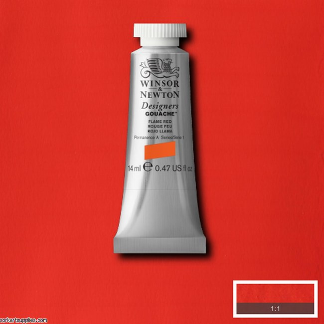 Designer Gouache 14ml Flame Red