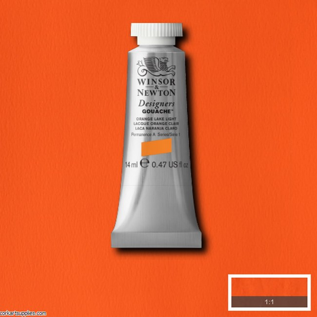 Designer Gouache 14ml Orange Lake Light