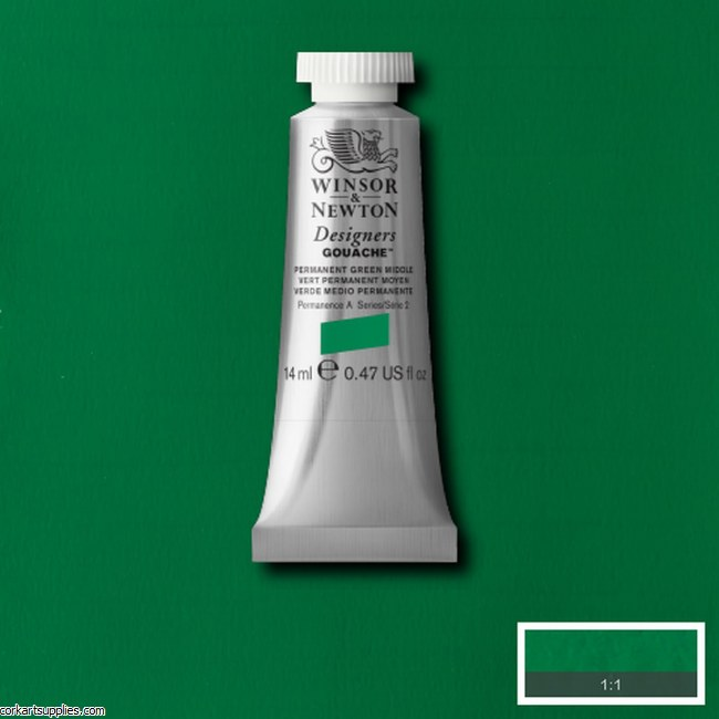 Designer Gouache 14ml Permanent Green Mid