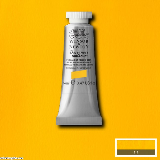 Designer Gouache 14ml Permanent Yellow Deep