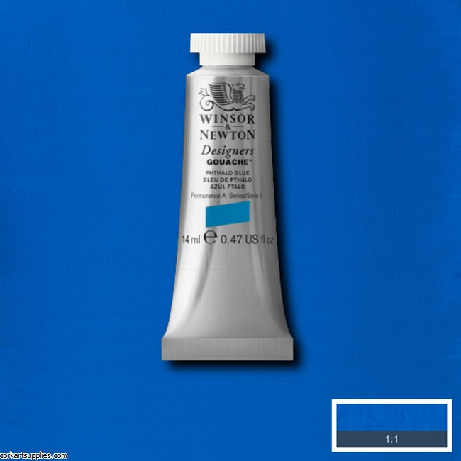 Designer Gouache 14ml Phthalo Blue
