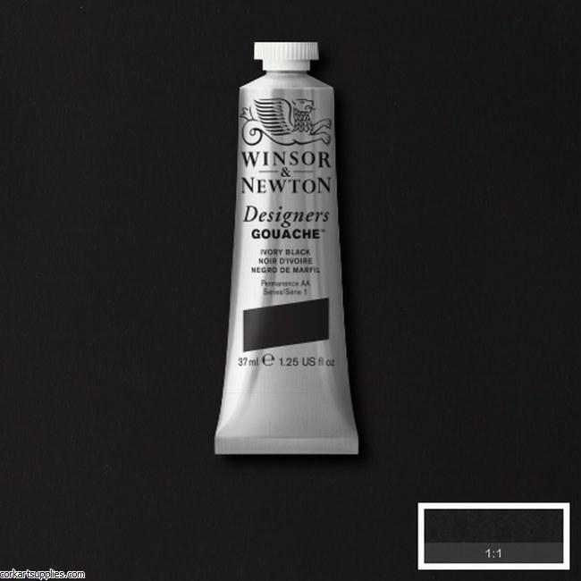 Designer Gouache 37ml Ivory Black