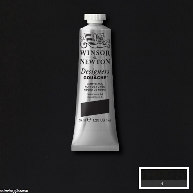 Designer Gouache 37ml Lamp Black