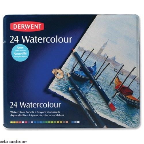 Derwent W/Colour Pencils 24pk