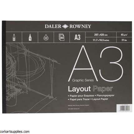 Layout Pad Daler 45gm 80sh A3