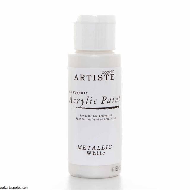 Acrylic 59ml Metallic White