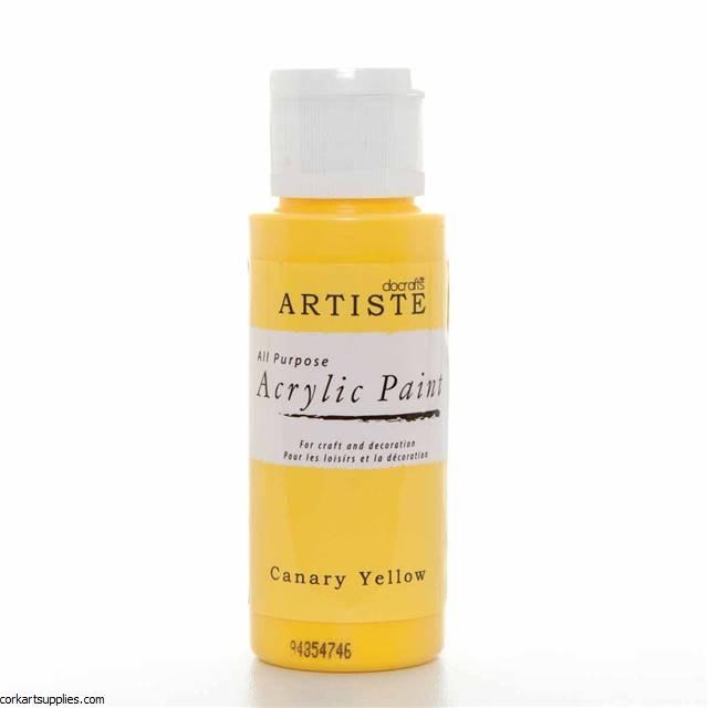 Acrylic 59ml Canary Yellow