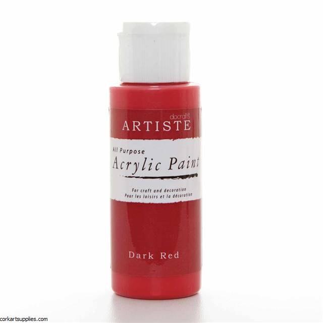 Acrylic 59ml Dark Red