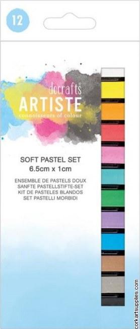 Docrafts Artiste Soft Pastels (12pcs)