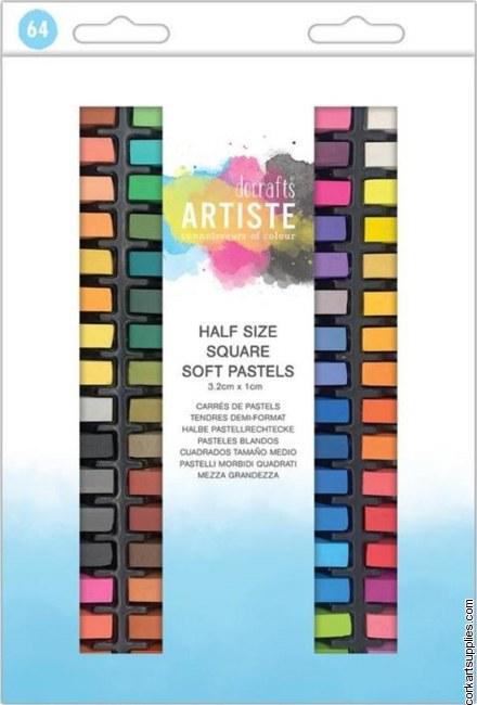 Docrafts Artiste Soft Pastels Half Size (64pcs)