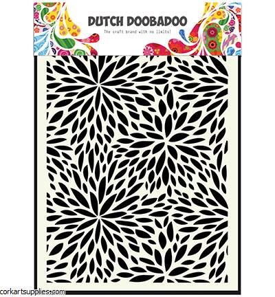 Mask Dutch Doobadoo Mask Art Floral Waves