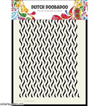 Dutch Doobadoo Mask Art Floral Waves