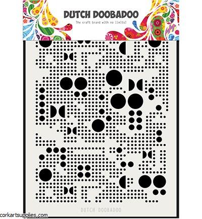 Mask A5 Dutch Doobadoo Mylar Various Dots