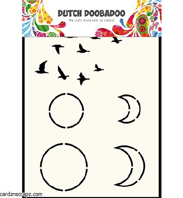 Stencil A6 DDBA Bird/Moon