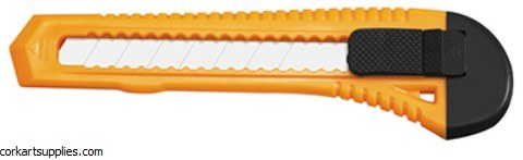 Knife Snap-Off Large18mm Orange Handle