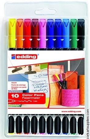 Edding 1200 Color Pens 6+4 F^