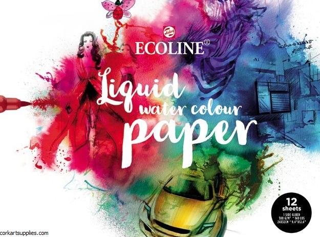 Ecoline Print Paper 24x32cm 300gm 12 sheets