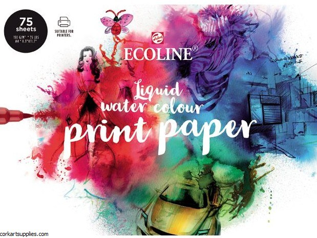 Ecoline Print Paper A4 150gm 75pk