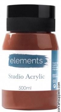 Elements Acrylic 500ml Burnt Umber