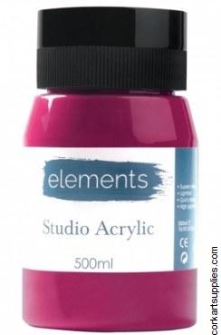 Elements Acrylic 500ml Magenta