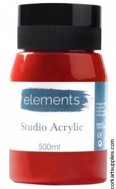 Elements Acrylic 500ml Crimson