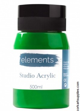 Elements Acrylic 500ml Cad Green