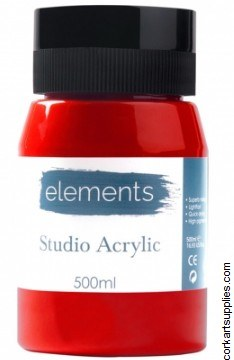 Elements Acrylic 500ml Cad Red