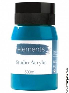 Elements Acrylic 500ml Cerulean Blue