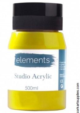 Elements Acrylic 500ml Lemon Yellow