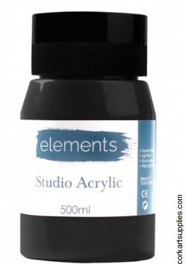 Elements Acrylic 500ml Mars Black