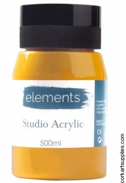Elements Acrylic 500ml Med Yellow
