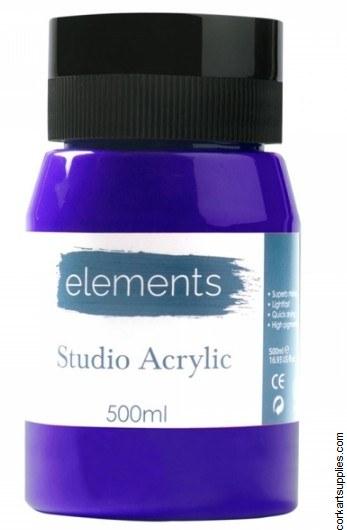 Elements Acrylic 500ml Ultramarine