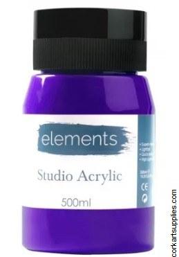 Elements Acrylic 500ml Violet