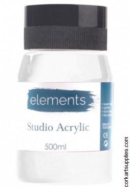 Elements Acrylic 500ml White