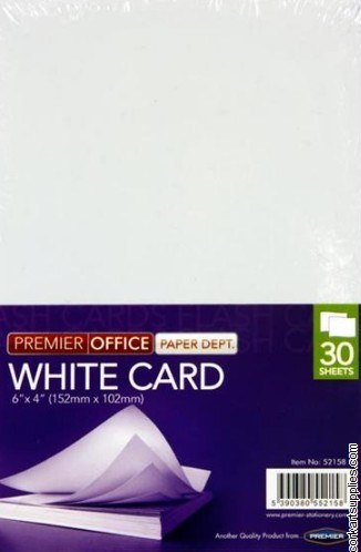 Flash Cards White 6x4